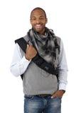 Laughing stylish ethnic guy Stock Image