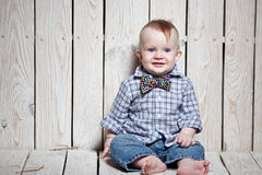 Laughing  stylish kid Stock Images