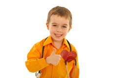 Laughing successful future doctor Stock Photography