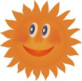 Laughing sun Royalty Free Stock Photo