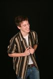 Laughing teen boy Stock Photo