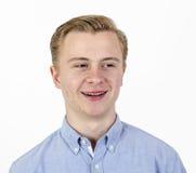 Laughing teenage boy Stock Image