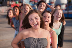 Laughing Teenage Friends Stock Photos