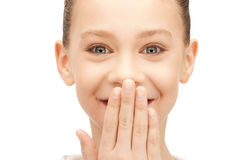 Laughing teenage girl Royalty Free Stock Photography
