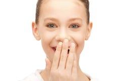 Laughing teenage girl Stock Photo