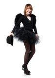 Laughing teenage girl in Halloween Royalty Free Stock Photos