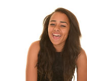 Laughing teenage girl Royalty Free Stock Image