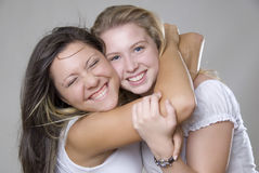 Laughing teenager royalty free stock photography