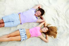 Laughing teens stock image