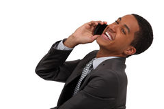 Laughing during telephone call Stock Photography