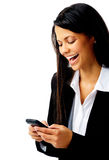 Laughing text message Royalty Free Stock Photo
