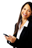 Laughing text message Stock Photos