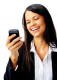 Laughing text message Royalty Free Stock Photos