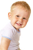 Laughing toddler boy Stock Photo
