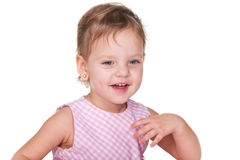 Laughing toddler girl Royalty Free Stock Images