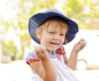 Laughing toddler girl Royalty Free Stock Image