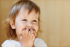 Laughing toddler Stock Photos