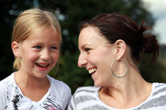 Laughing Together. Mother and child share a laugh Stock Photography