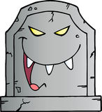 Laughing Tombstone Royalty Free Stock Photography