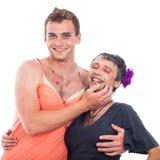 Laughing transvestites having fun Royalty Free Stock Photos