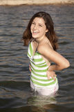 Laughing in water Stock Photography