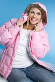 Laughing Winter Girl Stock Images