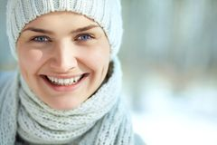 Laughing Winter Girl Royalty Free Stock Photo