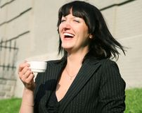 The laughing woman Stock Image