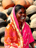 Laughing Woman. An Indian woman laughing heartily royalty free stock images