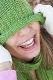 Laughing Woman. Laughing playful woman royalty free stock photos