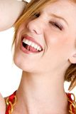 Laughing Woman. Beautiful sexy laughing redhead woman Stock Photos