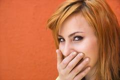 laughing woman στοκ φωτογραφία