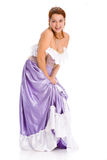Laughing woman in ball dress. Royalty Free Stock Photos