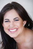 Laughing woman with brown hair Royalty Free Stock Photo