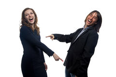 Laughing woman and man Stock Photo