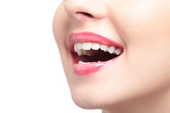 Laughing woman mouth Stock Photography