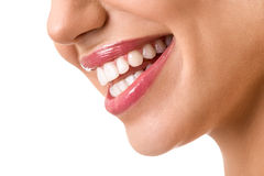 Laughing woman mouth with great teeth Stock Photography