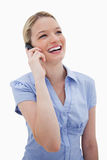 Laughing woman on the phone Royalty Free Stock Photo
