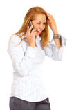 Laughing woman on the phone Stock Image