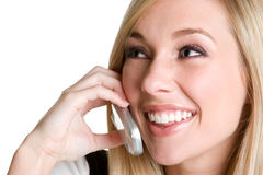 Laughing Woman on Phone Royalty Free Stock Images