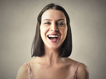 Laughing woman Royalty Free Stock Photography