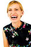 Laughing woman posing Royalty Free Stock Images