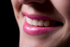 Laughing woman smile with great teeth. Stock Images
