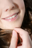 Laughing woman smile with great teeth. Royalty Free Stock Image