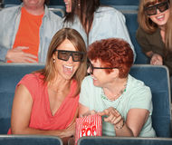 Laughing Women With 3D Glasses Stock Photos