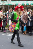 Laughing women in carnival parade Stock Photo