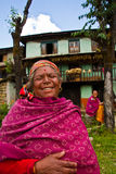 Laughing women of Sindhupalchowk, Nepal Royalty Free Stock Photo