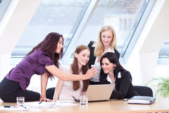 Laughing in work break Royalty Free Stock Images