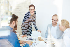 Laughing at work Royalty Free Stock Photography