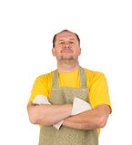 Laughing worker Stock Images